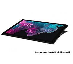 Microsoft Surface Pro 6 für Unternehmen, i7 16GB 512 GB SSD leasen, schwarz, aktuelles Modell mit Windows 10 Pro