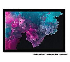 Microsoft Surface Pro 6 für Unternehmen, i5 8GB 256 GB SSD leasen, Platin Grau mit Windows 10 Pro