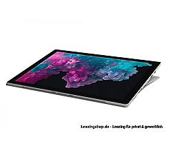 Microsoft Surface Pro 6 für Unternehmen, i7 16GB 512 GB SSD leasen, Platin Grau, aktuelles Modell mit Windows 10 Pro