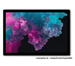 Microsoft Surface Pro 6 für Unternehmen, i7 16GB 512 GB SSD leasen, Platin Grau mit Windows 10 Pro