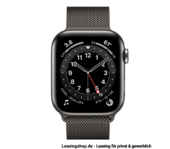 Apple Watch Series 6 GPS + Cellular mit 40mm oder 44mm, Edelstahl Milanaise Armband Graphit leasen