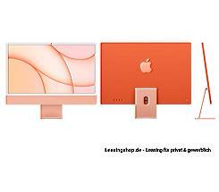 Apple iMac 24 mit 4,5K Display 512 GB Orange leasen, M1 Chip 8-Core CPU und 8-Core GPU, Z133