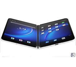 Microsoft Surface Duo 2 leasen, 512GB in der Farbe Gletscher