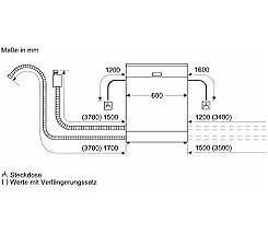 Siemens SE63HX41TE Vollintegrierbarer 60 cm Geschirrspüler vollintegrierbar leasen
