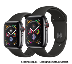 Apple Watch Series 4 GPS + Cellular mit 40mm oder 44mm, Sportarmband Space Schwarz leasen