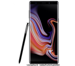 Samsung Galaxy Note 9 Dual SIM, 128GB Midnight Black leasen, ohne Vertrag (Handy), N960F