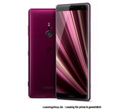 Sony Xperia XZ3 Smartphone Bordeaux Red leasen