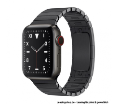 Apple Watch Series 5 GPS + Cellular mit 40mm oder 44mm, Titan Gliederarmband Space Schwarz leasen
