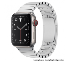 Apple Watch Series 5 GPS + Cellular mit 40mm oder 44mm, Titan Gliederarmband Silber leasen