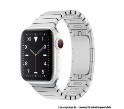Apple Watch Series 5 GPS + Cellular mit 40mm oder 44mm, Keramik Gliederarmband Silber leasen