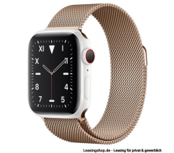 Apple Watch Series 5 GPS + Cellular mit 40mm oder 44mm, Keramik Milanaise Gold leasen