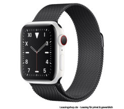 Apple Watch Series 5 GPS + Cellular mit 40mm oder 44mm, Keramik Milanaise Space Schwarz leasen