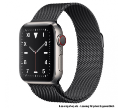 Apple Watch Series 5 GPS + Cellular mit 40mm oder 44mm, Titan Milanaise Space Schwarz leasen