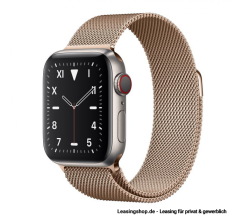 Apple Watch Series 5 GPS + Cellular mit 40mm oder 44mm, Titan Milanaise Gold leasen