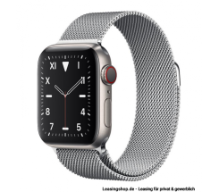 Apple Watch Series 5 GPS + Cellular mit 40mm oder 44mm, Titan Milanaise Silber leasen
