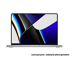 Apple MacBook Pro 14 mit M1 Pro Chip 8-Core, 16 bis 32 GB RAM, 512 GB bis 8TB SSD leasen, Silber MKGR3D/A