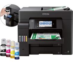 EPSON EcoTank ET-5850 Drucker Scanner Kopierer Fax LAN WLAN + 80€ Cashback* bei uns leasen