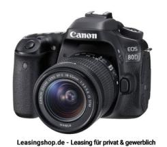 Canon EOS 80D Kit 18-55 IS STM, leasen