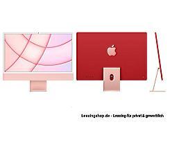 Apple iMac 24 mit 4,5K Display 256 GB Rosé leasen, M1 Chip 8-Core CPU und 8-Core GPU, MGPM3D/A