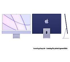 Apple iMac 24 mit 4,5K Display 256 GB Violett leasen, M1 Chip 8-Core CPU und 8-Core GPU, Z130