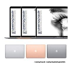 Apple MacBook Air, 1.6 GHz i5, 8GB bis 16GB RAM, 128GB bis 1TB SSD leasen, Space Grau MVFH2D/A, Silber MVFK2D/A, Gold MVFM2D/A, aktuelles Modell