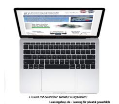 Apple MacBook Pro 13, 2.3 GHz 128 GB SSD leasen, Silber MPXR2D/A