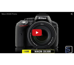 Nikon D5300 Kit 18-55 mm leasen, Gehäuse schwarz