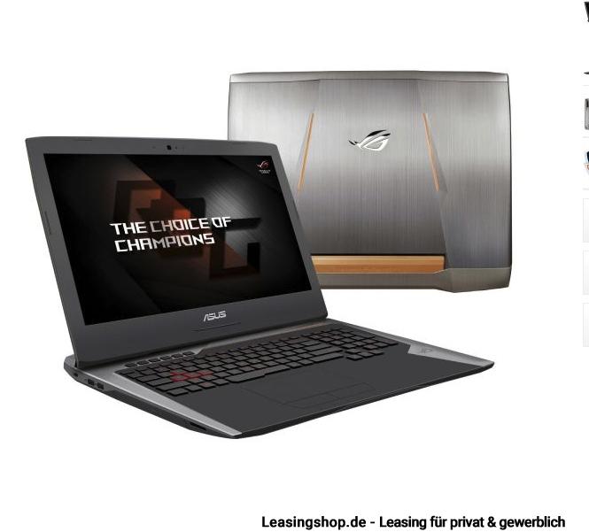 asus rog g752vs gc089t gaming notebook leasen. Black Bedroom Furniture Sets. Home Design Ideas